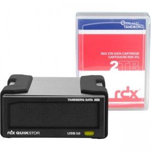 Tandberg RDX QuikStor External Drive Kit - 2TB USB3+ 8865-RDX