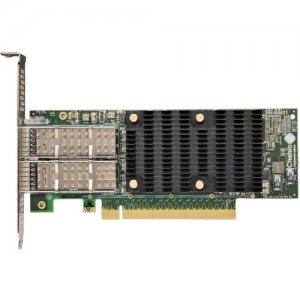 Chelsio High Performance, Low Profile, Dual Port 40/50/100GbE Unified Wire Adapter T62100-LP-CR