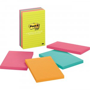 "Post-it Notes 4""x6"" Pads in Capetown Colors 6605AN MMM6605AN"