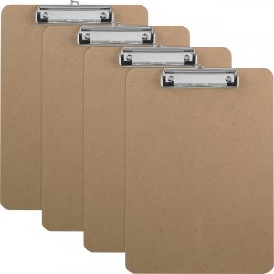 Business Source Flat Clip Hardboard Clipboard 16508BX BSN16508BX
