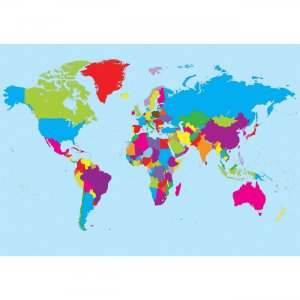 Ashley Magnetic World Map 77013 ASH77013