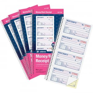 Adams Spiral 2-part Money/Rent Receipt Book SC1152PK ABFSC1152PK