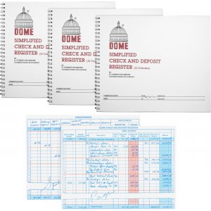 Dome Check And Deposit Register 210BD DOM210BD