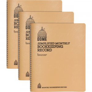 Dome Bookkeeping Record Book 612BD DOM612BD