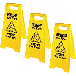 Genuine Joe Universal Graphic Wet Floor Sign 85117BD GJO85117BD