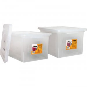 Lorell Letter/Legal Plastic File Box 68925BD LLR68925BD
