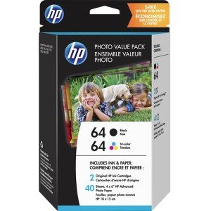 HP Black/Tri-color Photo Value Pack-40 sht/4 x 6 in Z2H77AN#140 64