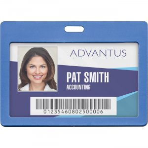 Advantus Horizontal Rigid ID Badge Holder 97064 AVT97064