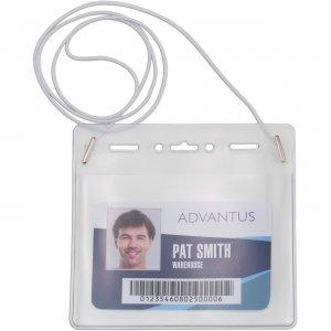 Advantus Horizontal ID Card Holder w/Neck Cord 97098 AVT97098