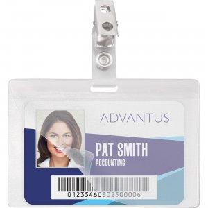 Advantus Strap Clip Self-laminating Badge Holders 97101 AVT97101