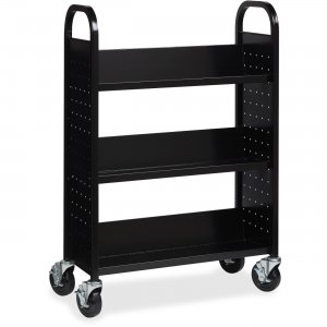 Lorell Single-sided Steel Book Cart 99933 LLR99933
