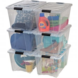 Iris Stackable Clear Storage Boxes 100245 IRS100245