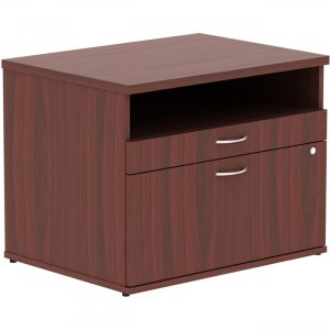 Lorell Relevance Series Mahogany Laminate Office Furniture 16212 LLR16212