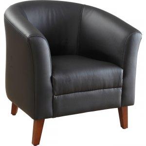 Lorell Leather Club Chair 82098 LLR82098