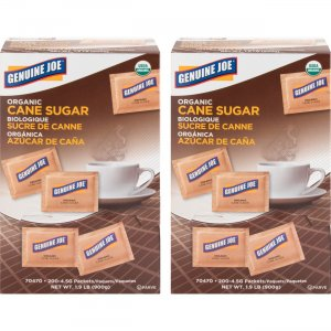 Genuine Joe Turbinado Natural Cane Sugar Packets 70470CT GJO70470CT