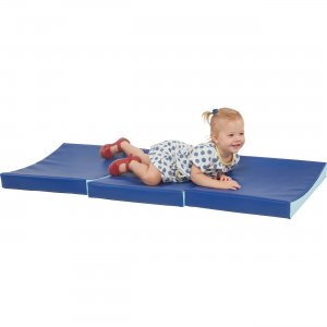Early Childhood Resources SoftZone Baby Roll/Crawl Mat 12694BL ECR12694BL