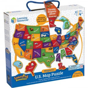Learning Resources Magnetic US Map Puzzle LER7714 LRNLER7714