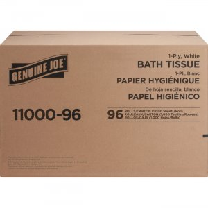 Genuine Joe 1-ply Bath Tissue 1100096 GJO1100096