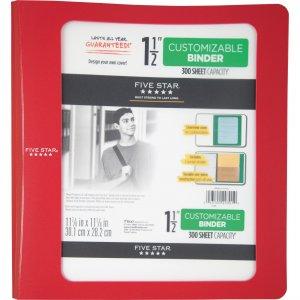 """Five Star Customizable 1-1/2"""" Plastic Binder 73366 MEA73366"""