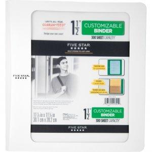 """Five Star Customizable 1-1/2"""" Plastic Binder 73437 MEA73437"""