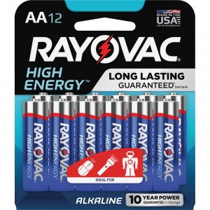 Rayovac Alkaline AA Batteries 81512K