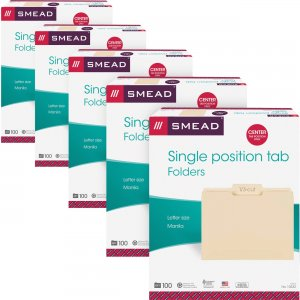 Smead 1/3 Cut Tab Manila File Folders 10332CT SMD10332CT