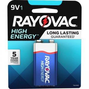 Rayovac Alkaline 9 Volt Battery A16041K RAYA16041K