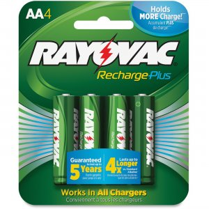 Rayovac Recharge Plus AA Batteries PL7154GENE RAYPL7154GENE PL715-4 GENE