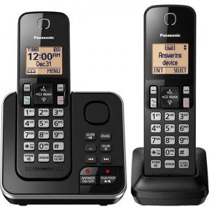 Panasonic Expandable Cordless Phone with Answering System - 2 Handsets KX-TGC362B