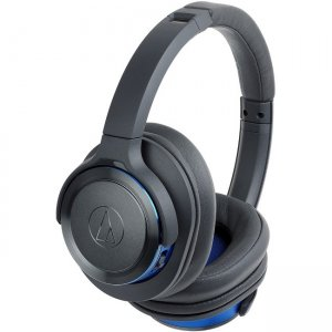 Audio-Technica Solid Bass Wireless Over-Ear Headphones with Built-in Mic & Control ATH-WS660BTGBL ATH-WS660BT