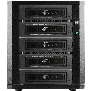 RAIDage 5-bay SATA 6.0 Gb/s eSATA-Port Multiplier Hotswap JBOD Enclosure 250W PSU DAGE540T7DE-PM