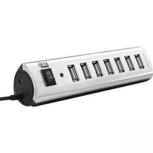 Adesso 7 Port USB 2.0 Hub with Power Adapter AUH2070P AUH-2070P