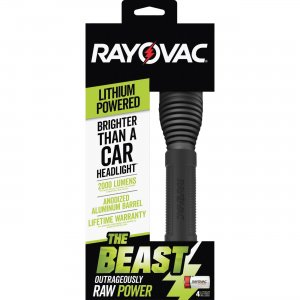 Rayovac The Beast CR123A Lithium Flashlight RWP123ABD RAYRWP123ABD RWP123A-BD