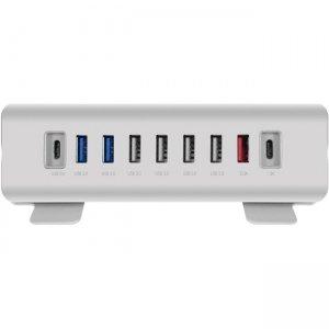 Macally USB-A to 9 Port USB-A / USB-C Hub & Charger TRIHUB9
