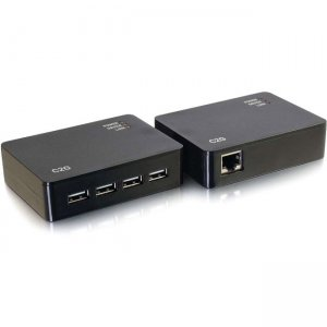 C2G 4 Port USB 2.0 Over Cat5/Cat6 Extender - USB Extension up to 150ft 54285