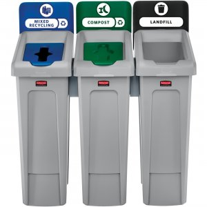Rubbermaid Commercial Slim Jim Recycling Station 2007918 RCP2007918