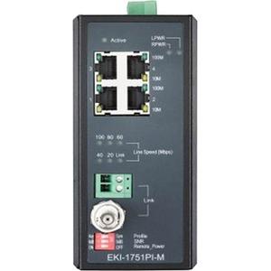 B+B Industrial VDSL2 Ethernet Extender, PoE, Master/CO EKI-1751PI-M-AE