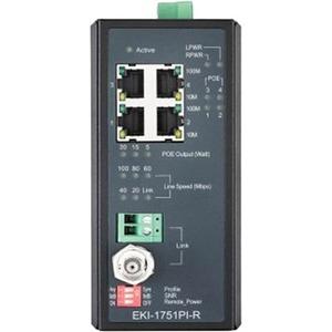 B+B Industrial VDSL2 Ethernet Extender, PoE, Remote/CPE EKI-1751PI-R-AE