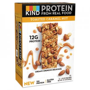 KIND Protein Bars, Toasted Caramel Nut, 1.76 oz, 12/Pack KND26041 26041