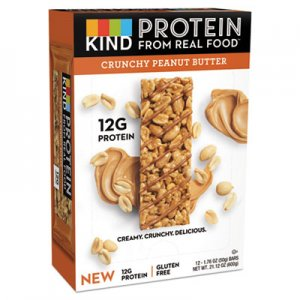 KIND Protein Bars, Crunchy Peanut Butter, 1.76 oz, 12/Pack KND26026 26026