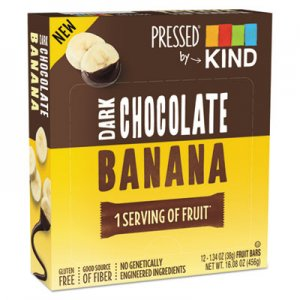 KIND Pressed Bars, Dark Chocolate Banana, 1.34 oz, 12/Pack KND25973 25973