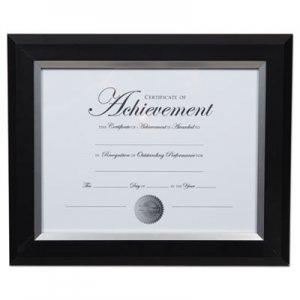 DAX 2-Tone Document Frame, 8 1/2 x 11 Insert, Black/Silver Frame DAXN16984NT N16984NT