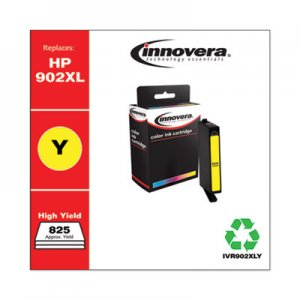 Innovera Remanufactured Yellow High-Yield Ink, Replacement for HP 902XL (T6M10AN), 825 Page-Yield IVR902XLY