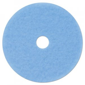 "3M Hi-Performance Burnish Pad 3050, 21"" Diameter, Sky Blue, 5/Carton MMM59829 59829"