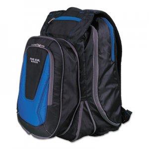 "Five Star Expandable Backpack, 14"" x 8"" x 19"", Blue/Black MEA73417 73417"