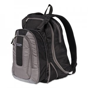 """Five Star Expandable Backpack, 14"""" x 8"""" x 19"""", Gray/Black MEA73415 73415"""