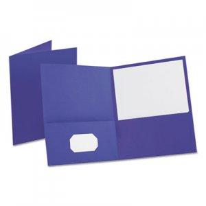 "Oxford Leatherette Two Pocket Portfolio, 8 1/2"" x 11"", Purple, 10/PK OXF57583 57583"