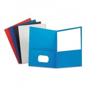 "Oxford Leatherette Two Pocket Portfolio, 8 1/2"" x 11"", Assorted, 10/PK OXF57570 57570"