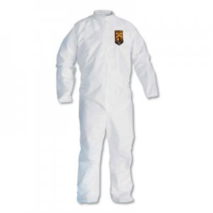 KleenGuard A30 Breathable Splash/Particle Protection Coveralls, White, 4X-Large, 21/Carton KCC46007 46007
