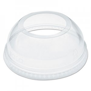 "Dart Open-Top Dome Lid for 16-24 oz Plastic Cups, Clear, 1.9""Dia Hole, 1000/Carton DCCDLW626 DLW626"